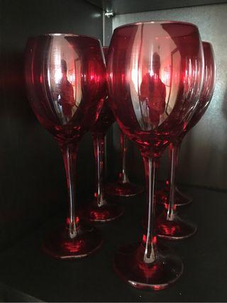 6 verres de vin