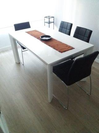 Mesa y sillas comedor de segunda mano por 450 en valencia en wallapop - Wallapop mesa comedor ...