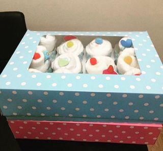 Caja cupcake pañales