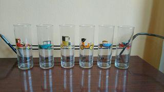 Juego de vasos vintage