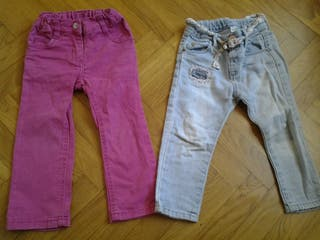 2 pantalones 12-18 meses