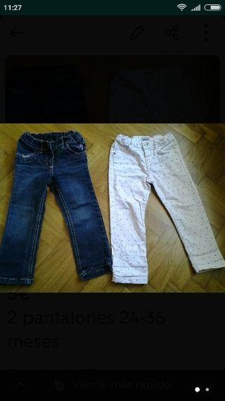 2 pantalones 24-36 meses