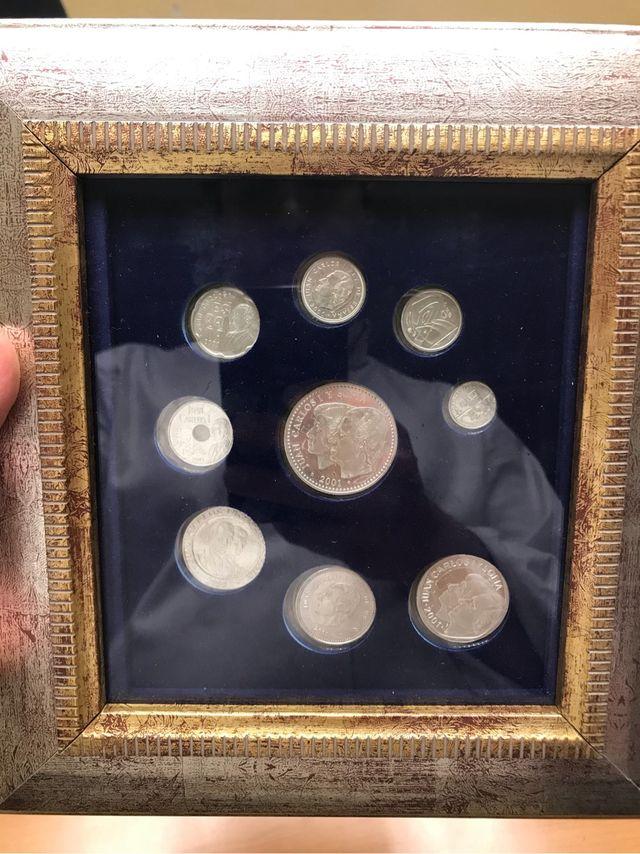 Monedas de plata peseta