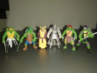 6 Mini figuras de las Tortugas ninja