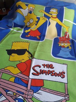Colcha Simpsons. de segunda mano por 10 € en Granada en WALLAPOP