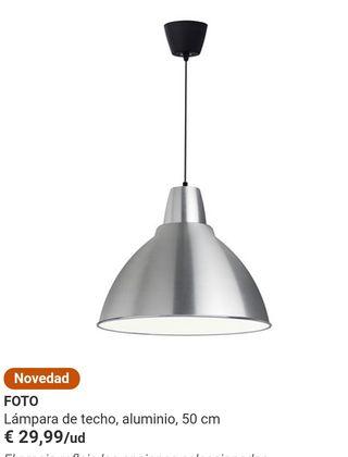 lampara industrial de techo de acero inoxidable