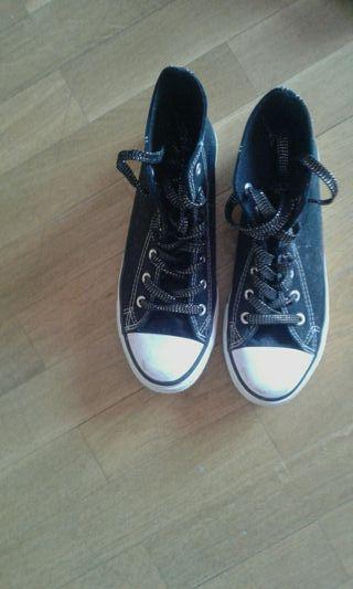 botas lona negra