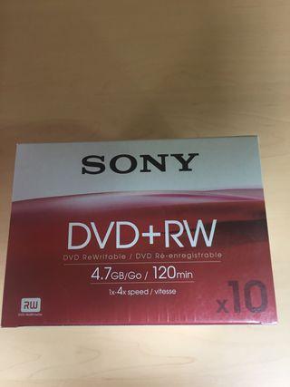 PACK 10 DVD RW SONY