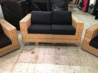 Sofa y sillones ratan