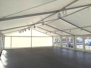 Heavy-duty marquee 6x12m for hire