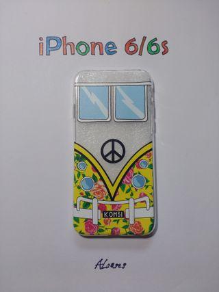 Carcasa iPhone 6 Furgoneta Volkswagen Amarillo