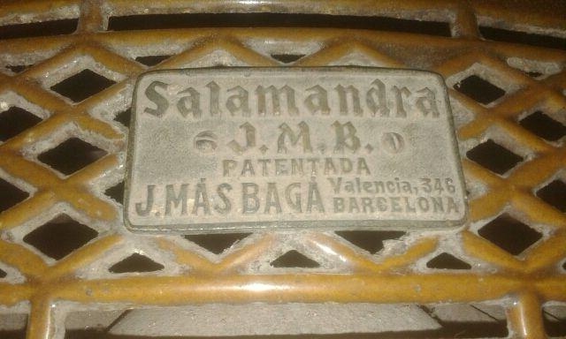 Estufa antigua salamandra(No negociable)