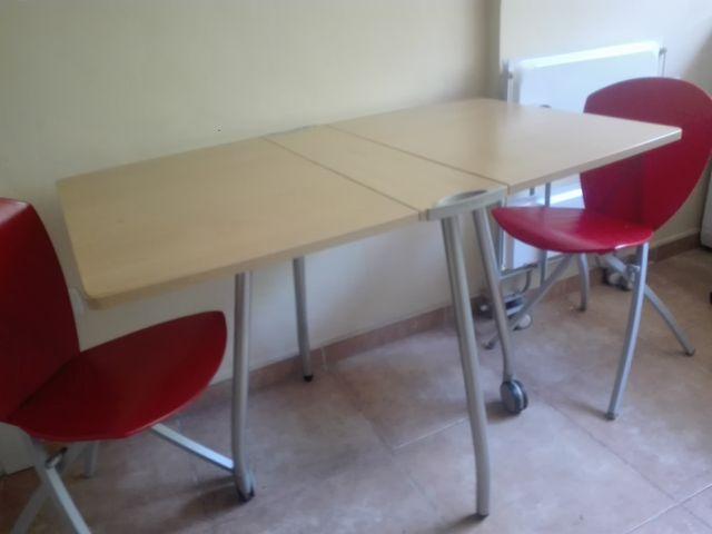 Mesa comedor/cocina alas abatibles.con 2 sillas de segunda mano por ...
