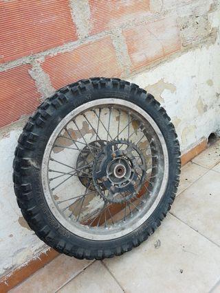 rueda trasera para motos de cros