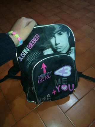 Mochila de Justin Bieber edición limitada