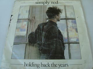 SIMPLY RED-.HOLDING BACK THE YERAS- SINGLE VINILO