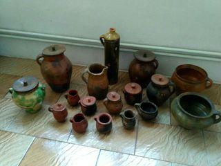 Lote de varias piezas de ceramica antigua