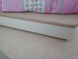 Canapé de madera blanca de 90cm