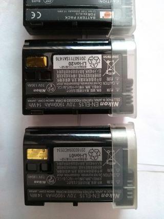 Baterias Nikon EN-EL15 2 originales y 2 compatible