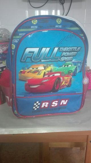mochila niño cars