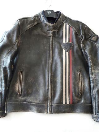 Chaqueta moto Triumph vintage