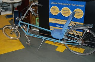 Bicicleta estilo Chopper creada RECUMBENT
