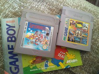 Dos juegos de Gameboy clasica