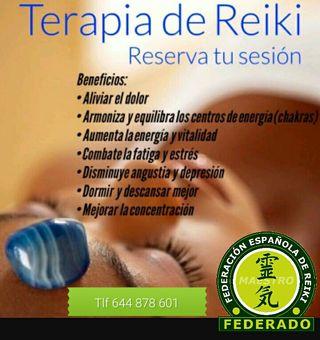 Sesión de Reiki