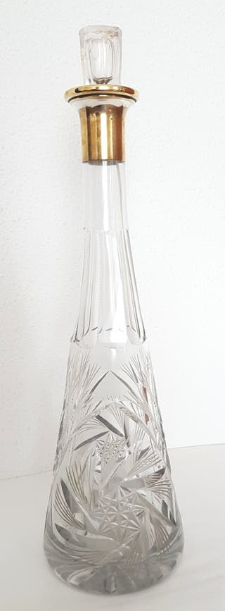 Licolera/Jarra cristal tallado.
