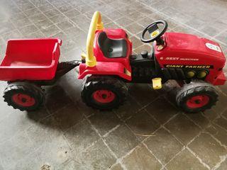 tractor gegant joguina remolc / Tractor juguete