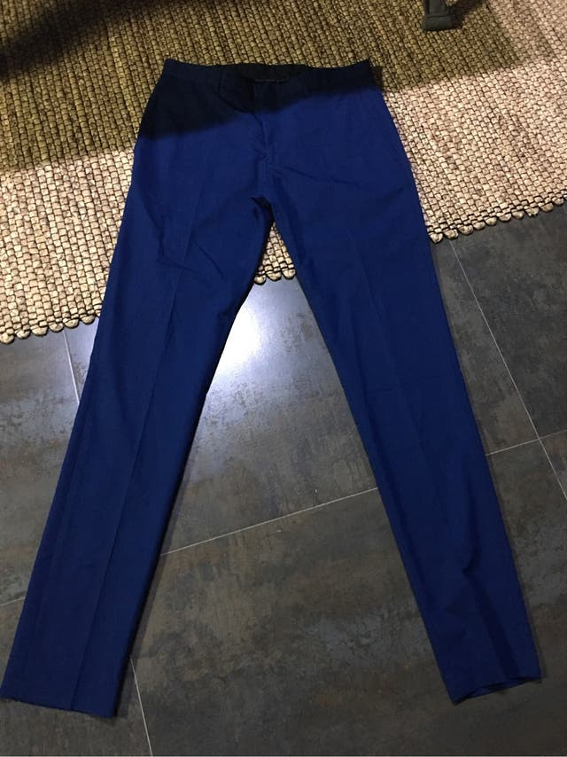 Pantalon Hombre Vestir Zara Man T38 Color Azul De Segunda Mano Por 15 En Zamora En Wallapop