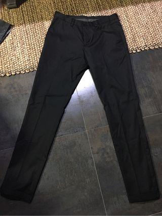 pantalon zara man negro