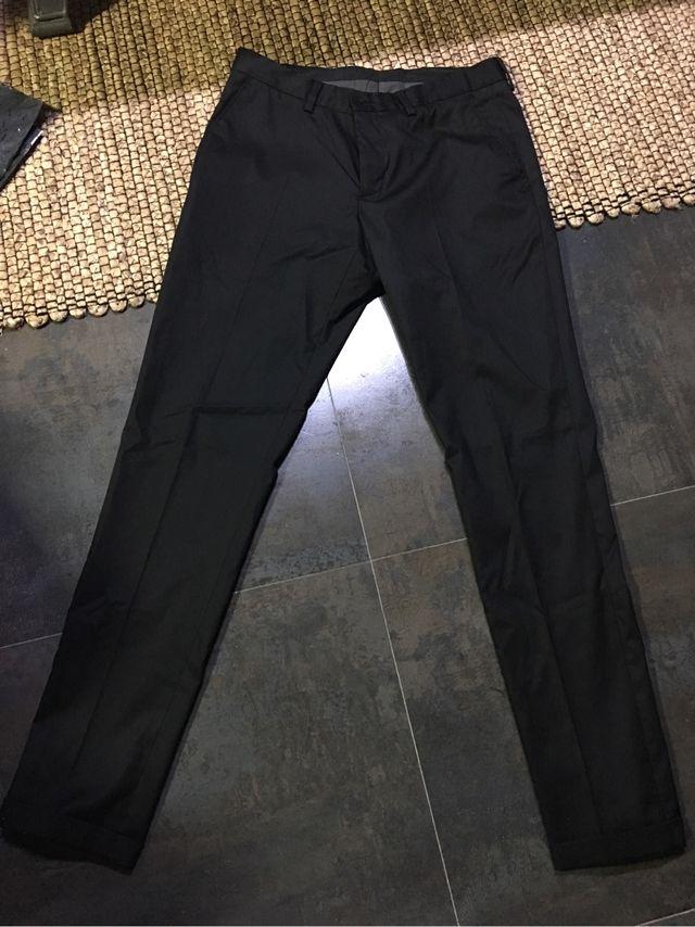 Pantalon Negro Vestir Zara Man T38 De Segunda Mano Por 15