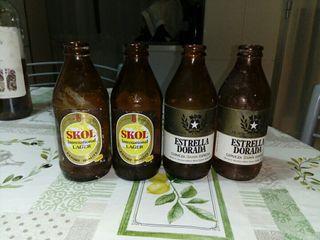 botellines de cerveza antiguos