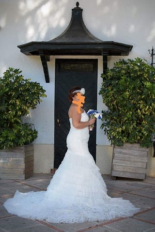 vestido de novia talla 40 de segunda mano en cádiz en wallapop