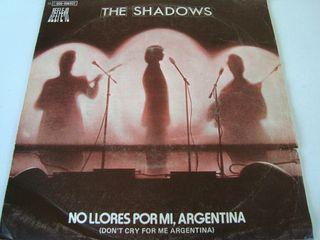 THE SHASOWS-.NO LLORES POR MI, ARGENTINA- VINILO 7