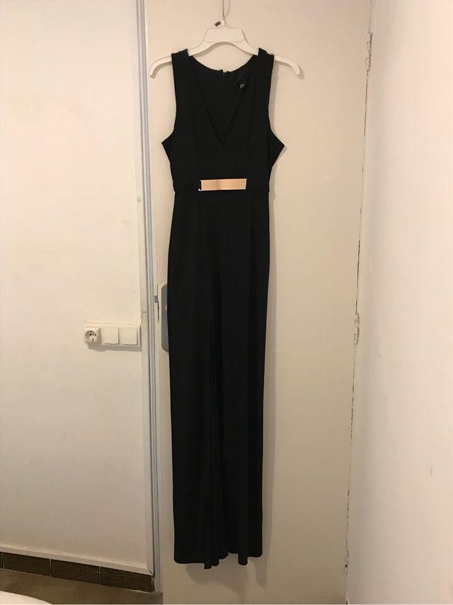 Vestido Negro Largo De Noche Precio Rebajado De Segunda