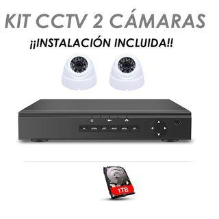 Kit CCTV 2 Cámaras de Seguridad HD