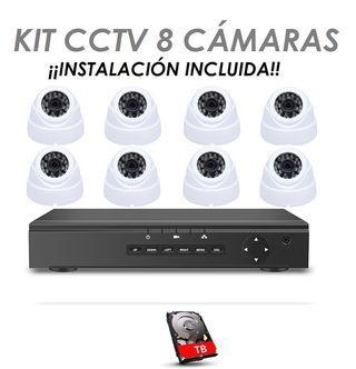 DVR con 8 Cámaras de Seguridad INSTALACIÓN INCL.