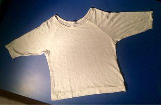 Camiseta blanco crema 3/4 de lino