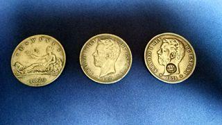 Monedas (duro de Plata) 1870-1871