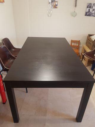 Mesa comedor Bjursta+ 6 sillas ikea a juego