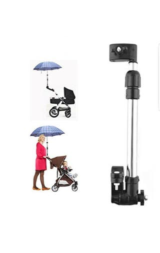 sujeta paraguas carro