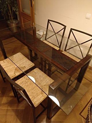 Mesa de comedor BANAK + sillas