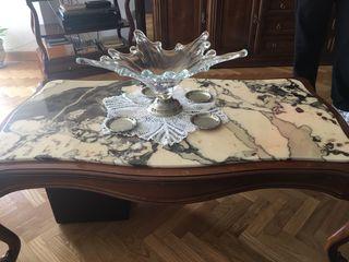 Mesa baja salon marmol