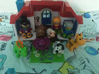 Casita imaginarium con muñecos