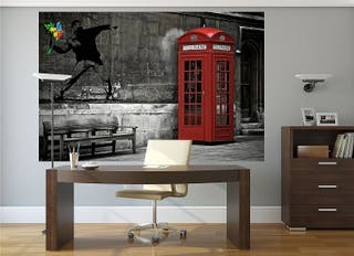 PRECINTADO Foto mural decorativo LONDON TELEPHONE