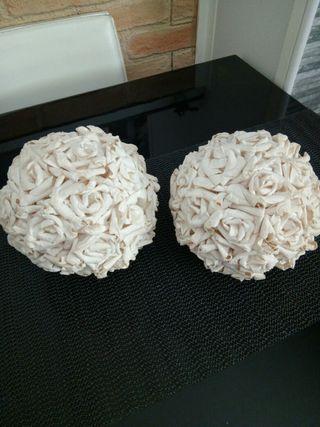 bolas de rosas de papel