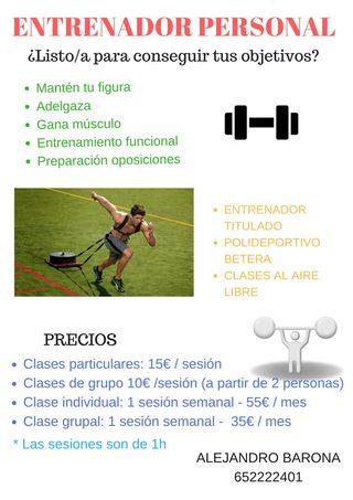 Clases preparación fisica
