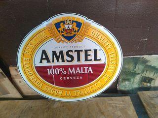 letrero de amstel